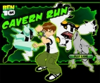 Playing Ben 10 Cavern Run