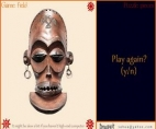 Puzzle Pieces African Mask